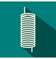 Metal spring icon flat style vector image vector image