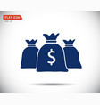 money bag icon flat logo vector image