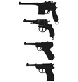 Old handguns vector image vector image