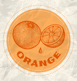 orange vintage paper vector image