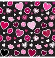 Pattern with kisses and hearts vector image vector image