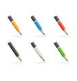 Pencils icon set vector image vector image