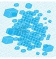 pixel art background vector image vector image