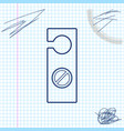 please do not disturb line sketch icon isolated on vector image