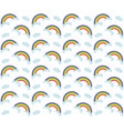 rainbow seamless pattern colorful children s vector image vector image