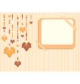 Retro autumn frame vector image vector image