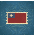 Retro Taiwan Flag Postage Stamp