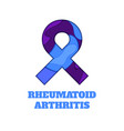 rheumatoid arthritis awareness papercut ribbon vector image vector image