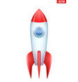 rocket isolated on white background vector image