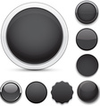 Round black icons vector image vector image