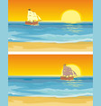 sailboat floating on sea flat vector image vector image