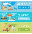 set delivery web banners vector image vector image