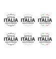 set of six italian icons made in italy vector image vector image