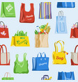 shopping bag shop paper-bag and baggy vector image vector image
