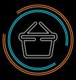 shopping basket icon - commercial shop button vector image