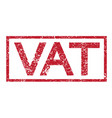 stamp text vat vector image vector image