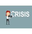 Successful businesswoman beats the crisis vector image vector image
