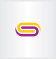 tech busines logo letter s purple yellow symbol vector image