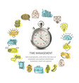 time management round design vector image vector image