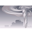 tornado and cityscape vector image