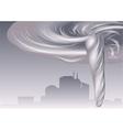 tornado and cityscape vector image