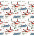 watercolor seamless pattern winter snowy vector image vector image