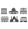 western asia isolated asian buildings on vector image vector image