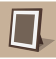 Wooden photo frame vector image vector image