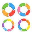 Color Circle Arrows Set vector image