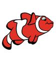 cartoon clown fish vector image