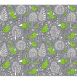 Colorful floral seamless pattern with trees and vector image