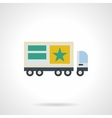 Commercial ads on trucks flat color icon vector image