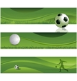 Soccer design banners vector image
