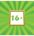 16 plus picture icon vector image vector image