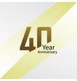 40 year anniversary template design gold elegant
