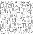 abstract seamless alphabet pattern with stylish vector image