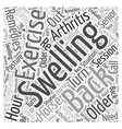 Arthritis and the Older Horse Remedies Word Cloud vector image vector image