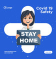 banner design of stay home vector image
