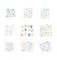 bashower party hand drawn multicolor textures vector image