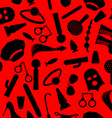 BDSM background Fetish icons seamless pattern vector image vector image