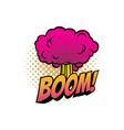 boom cloud cartoon comic book sound blast vector image vector image