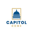 capitol dome logo design inspiration in blue and vector image vector image