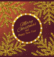 christmas new year background with gold snowflakes vector image vector image