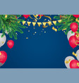 christmas xmas holiday lettering design vector image vector image