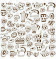 coffee cups doodles vector image