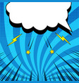 comic blue concept vector image vector image