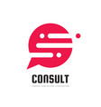 consult business logo design message vector image vector image