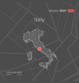 dotted italy map vector image vector image