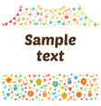 Empty blank with funny colored design elements vector image vector image
