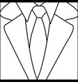 figure suit with elegant tie icon vector image vector image